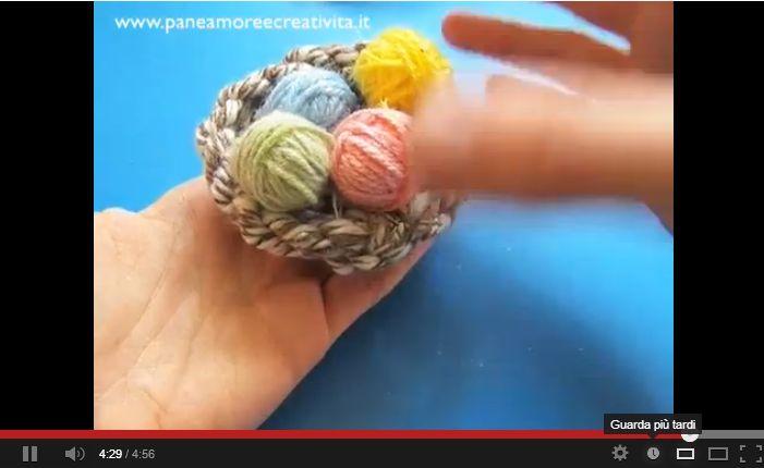 Nido e ovetti di lana: tutorial per decorazioni fai da te